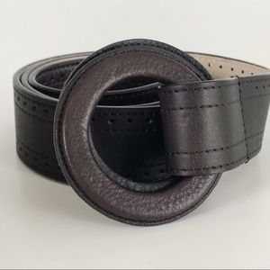Vintage | Dark Brown Leather Belt Size Medium